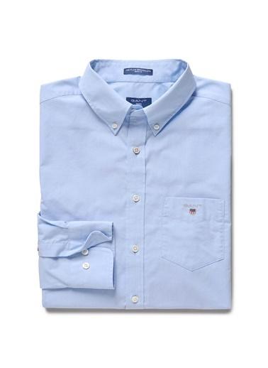 Gant Düz Regular Gömlek Mavi